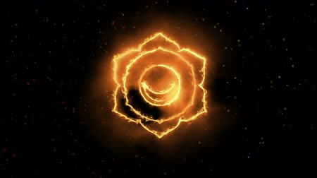 chakra : Swadhishtana Sacral Chakra Symbol Forming of Fire, one of the seven chakras, great for design