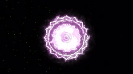 chakra : The Crown Sahasrara Mandala Chakra Symbol Forming of Fire, one of the seven chakras, great for design Stock Footage