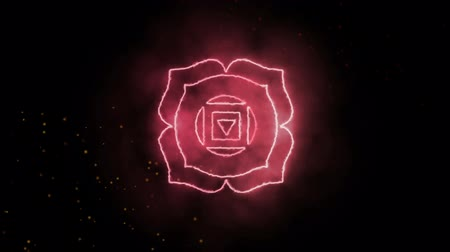 chakra : Muladhara Root Chakra Symbol Forming of Fire, one of the seven chakras, great for design