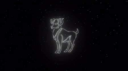 semanal : Zodiac sign Aries and beautiful background for presentations, video intro, horoscope, films, transition, titles and much more
