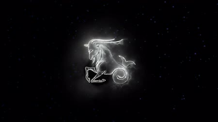 destino : Zodiac sign Capricorn and beautiful background for presentations, video intro, horoscope, films, transition, titles and much more