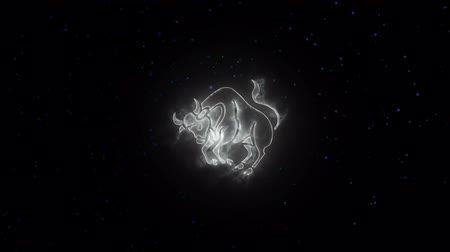 semanal : Zodiac sign Taurus and beautiful background for presentations, video intro, horoscope, films, transition, titles and much more Vídeos