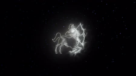 strzelec : Zodiac sign Sagittarius and beautiful background for presentations, video intro, horoscope, films, transition, titles and much more