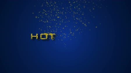 販売のための : Promotion HOT DEALS with background in blue tones. Use it for marketing presentation or your own motion graphics project