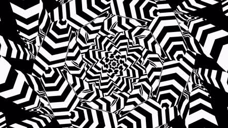 persuasion : Radial, radiating lines with wavy, zigzag distortion. Hypnotic illusion loop Stock Footage