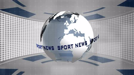 Sport news, technology abstract motion graphics Wideo