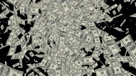 стабильность : American hundred dollar bills, Falling Dollar banknotes animation