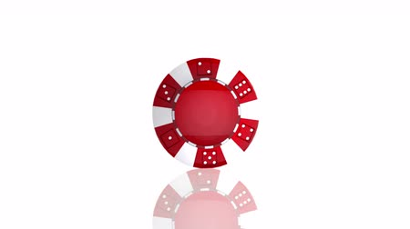 The Perfect Spinning Poker Chip, loopable moving image Wideo