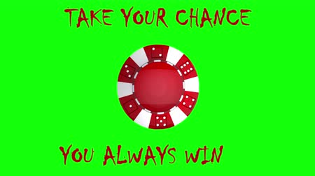 ruleta : The perfect spinning poker chip on chroma  key,  loopable moving image