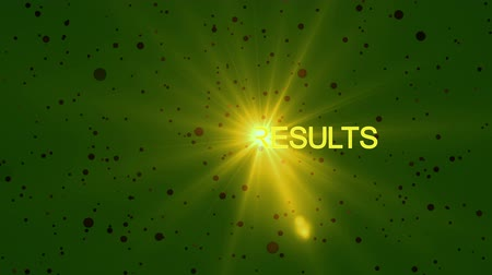 süreklilik : Text SOCCER RESULTS with beautiful optical flare effect created by colorful light, abstract light background