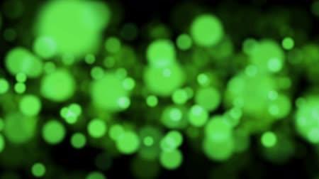 Background with beautiful green bokeh circles