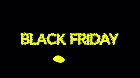 Special offer, sale, discount, video with text BLACK FRIDAY, marketing concept Wideo