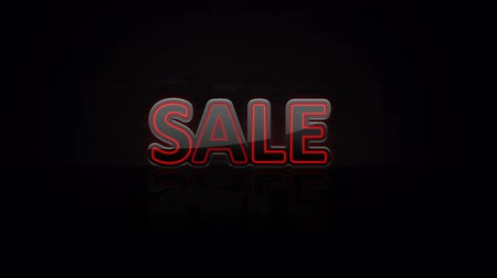 pricetag : Animated abstract Sale, dynamic digital background, HD 1080p. Stock Footage