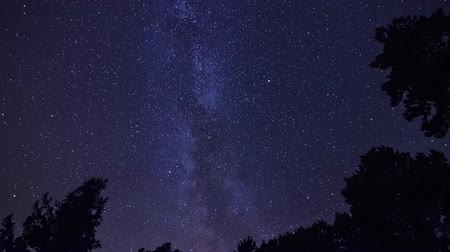 4K Time Lapse Night Sky Stock Footage