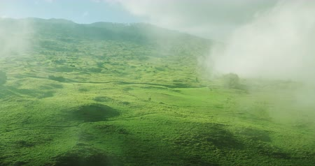 beautiful view : Aerial view flying over beautiful countryside Stock Footage