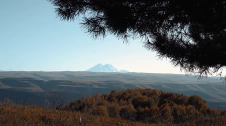 view of the sleeping volcano Elbrus Stok Video