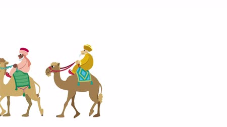 moudrý : The three wise men and their camels walking animation.