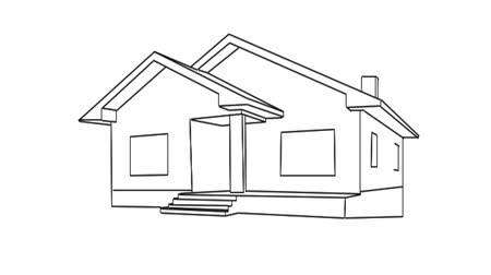 dom : Drawing of a house
