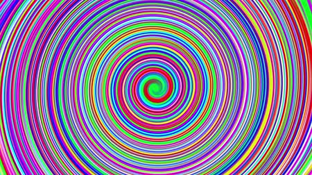 espiral : Espiral de colores Archivo de Video