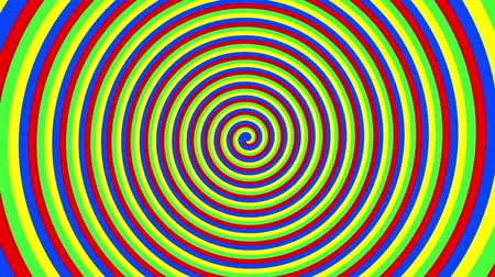fondo espiral : Espiral de colores Archivo de Video
