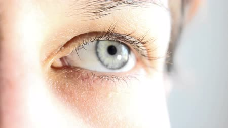 írisz : Woman eye Stock mozgókép