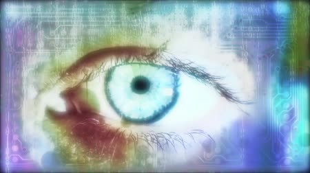 управление : Eye reading a binary code