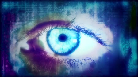 Eye reading a binary code