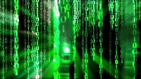 Binary code Stok Video
