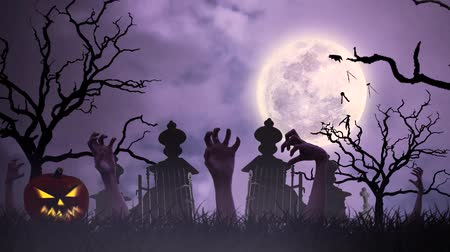 dia das bruxas : Halloween animation with undead
