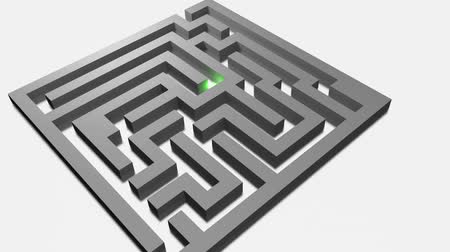 solution : 3D animation - Gray labyrinth solved