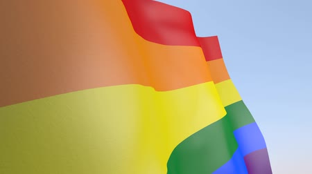 gurur : 3D Animation - Gay Pride Flag Stok Video