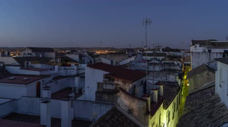 Timelapse of the rooftops at dawn in Cordoba - Spain