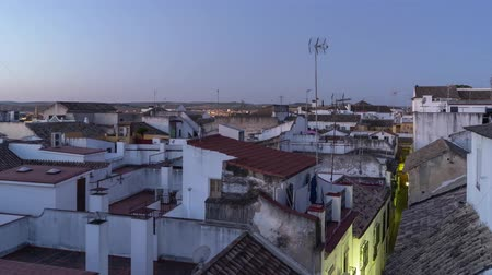Timelapse of rooftops at sunrise in Cordoba - Spain