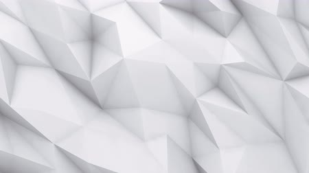 hajtogatott : 3D animation - White low poly texture