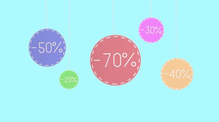 Animation of a discount tags hanging thread
