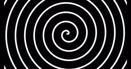 Black and white spiral looping animation Stok Video