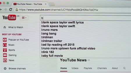 youtube : Searching business news on YouTube website