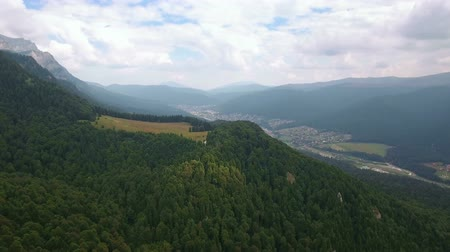 small height : Aerial view of Romania mountains landscape town valley scenery 5