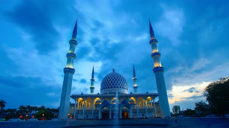 4K Timelapse of Shah Alam Mosque 影像素材