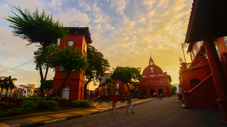 4K Timelapse of historical building in Malacca during sunrise