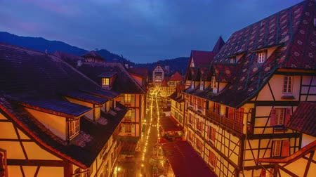 4K Timelapse of public old french building style at Bukit Tinggi 影像素材