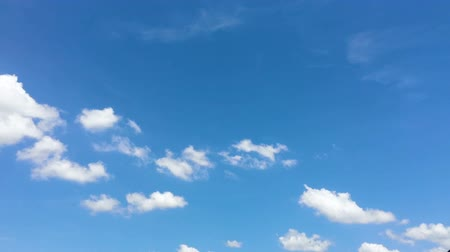 meteorologia : Time-lapse of the white cloud moving and morphing with the wind in the clear blue sky on the sunny day