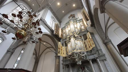 trubka : The pipe organ in Westerkerk in Amsterdam Netherlands. It is a Dutch Protestant church in central Amsterdam on the bank of the Prinsengracht canal.