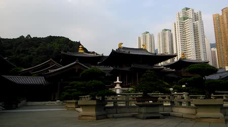 van : Time-lapse video of Chi Lin Nunnery in Diamond Hill District of Hong Kong, China.