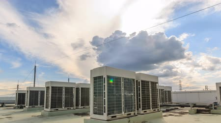 outlook : Fan coil unit with sky and cloud timelapse Stock Footage