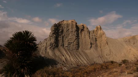 almeria : badlands landscape with blue sky in the south of Spain, Almera