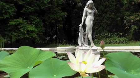 статуя : Beautiful Fountain with woman statue at the Botanical Garden of Buenos Aires, Argentina