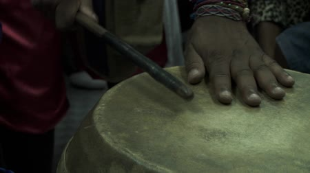 montevideo : Playing drums of Candombe in Montevideo Stock Footage