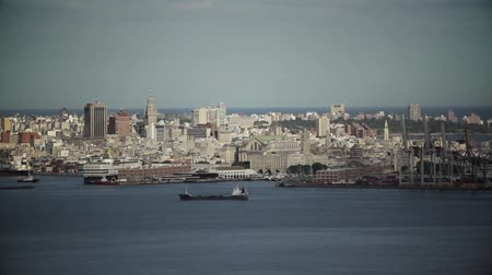montevideo : General View of the Port of Montevideo, in Uruguay