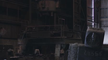 metallurgic : Warehouse in the Foundry Industry. Stock Footage